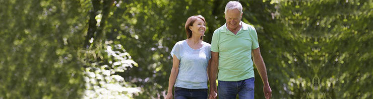 Pension Advisors Bristol - Senior Couple walking countryside